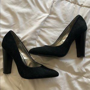 Black Velvet BCBG Heels